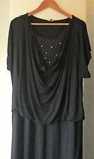 Maggie T, Plus Size Dress, Black, Beading, Size 24 $25