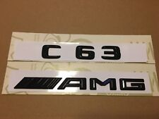 Mercedes C63 AMG Badge Emblem Decals New Style Gloss Black
