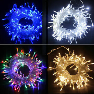 20-1000 LED Plug In RGB Fairy String Light Christmas Tree Garden Outdoor Party