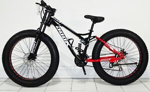 Fat Bike Road Bicycle Full Suspension Folding Men / Women Mountain Bike MTB