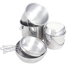 MIL-COM BILLY CAN NESTING SET – 6 piece camping saucepan frying pan cooking pots