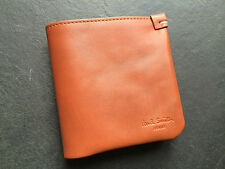 PAUL SMITH TAN with NEON YELLOW PREMIUM SPANISH LEATHER BIFOLD WALLET