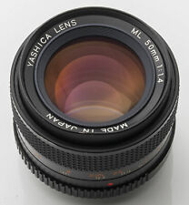 Yashica Lens ML 50 mm 50mm 1.4 1:1.4 -- Contax analog