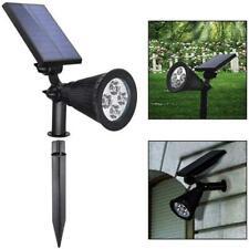 Solar Power LED Spot Lights RGB Color Garden Path Landscape Wall Lamp Home Light