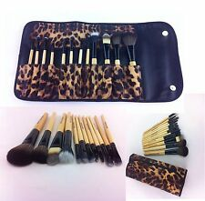 12 pcs PRO Makeup Brush Set (African Leopard) Eyebrow Pencil Lip Liner & Brushes