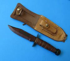 JAPAN Air Force Survival Knife - VINTAGE Japanese Military Fighting with Sheath