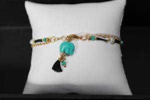 colored elephant charm bracelet 2A