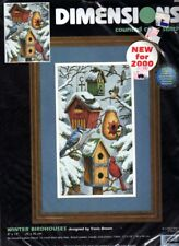 Dimensions Counted Cross Stitch Kit - Winter Birdhouses