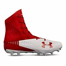 Under Armour Men's Highlight Select MC Football Shoe, Red (600)/White, 12