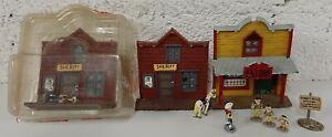 LUCKY LUKE 9 figurine/statuette bd Atlas Série Métal Avec Saloon et Shériff EC