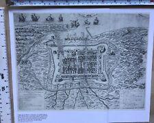 """Antique vintage historical map 1500s: Calais, France 12 X 9"""" Reprint 1558c"""