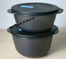 Tupperware Crystalwave Microwave Container 6, 8 1/2 Cups Black NEW !!!