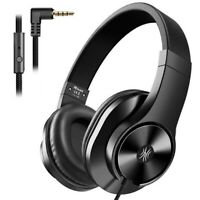 Oneodio T3 Wired Headphones Over Ear Headset w/ Microphone Stereo Bass Earphone