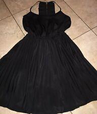 Double Zero DRESS Ruffle •Little black dress• Size Medium
