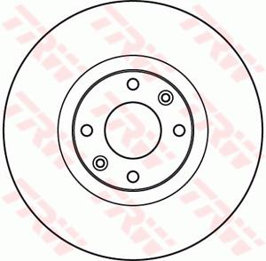 TRW Brake Rotor Front DF4962S fits Peugeot 308 SW 1.6 16V (110kw), 1.6 16V (1...