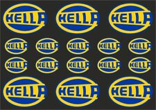 HELLA Classic Car Rally Decals Stickers Graphic Set Logo Adhesive Kit 16 Pcs