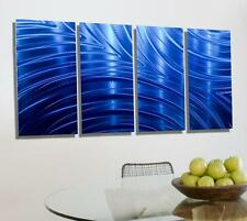 Abstract Modern Metal Wall Art Decor, Blue Painted Wall Sculpture - Jon Allen