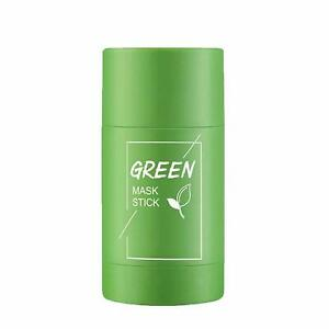 Green Tea Purifying Clay Mask Stick Oil Pore Acne Remover Facial Deep Cleansing