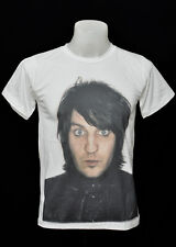 White crew t-shirt noel fielding Face punk rock cotton CL tee size L
