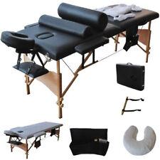"73""L Portable Tattoo Spa Salon Facial Bed Beauty Massage Table Chair Set Black"