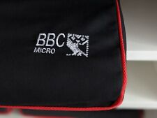 More details for bbc micro - dust cover - traffic black cotton canvas - embroidered