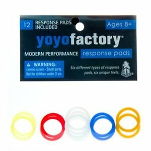 YoYoFactory Pro Pad Pack - Response Pads -Large, Slim Assorted Pads - 12pk