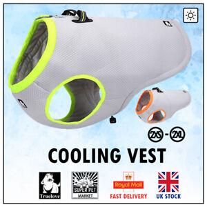 Summer Vest Truelove Cooling Reflective Dog Harness Mesh Cool Heat Grey Neon