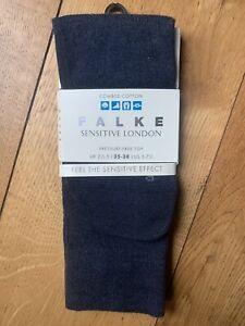 BNWT TOAST FALKE Combed Cotton Navy Blue Socks size S/M 35-38 UK 3-5