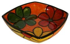 Square Salad Bowl 22 cm sq Traditional Spanish Handmade Ceramic Pottery