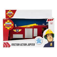 Fireman Sam Engine Friction Action Jupiter Fire Truck + Large Sam Figure Toy