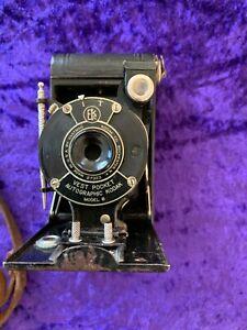 Antique Vest Pocket Kodak B camera in leather case - c.1930