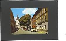 AK Braunau am Inn Salzburger Straße mit Bank VW Käfer Audi 60? Opel