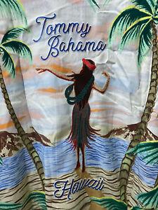 Tommy Bahama HULA GIRL SCENE Silk Camp Shirt XXXL Hawaii Coconut Tree