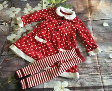 Girls Christmas Outfit 18-23 Months Dress With Tights