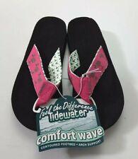 Tidewater Boardwalk Palmetto Flip Flops Pink/Green Size 7