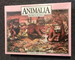 ANIMALIA Jigsaw Puzzle-Crafty Crimson Cats 750 Pc-Graeme Base-Brand New Sealed.
