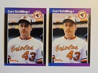 1989 Donruss Curt Schilling #635 ***LOT 2*** Baseball Rookie Card (RC) - RED SOX