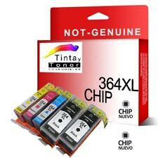 5 cartuchos de tinta con chip para hp-364xl 5522 5524 6510 6520 7510 7520 nonoem