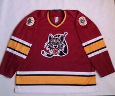 Vintage Chicago Wolves Bauer Hockey Jersey Size L