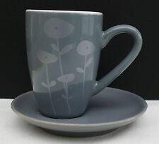 ASA Espresso - Mokkatasse in grau mit modernem Blumendesign !!! Nr 272