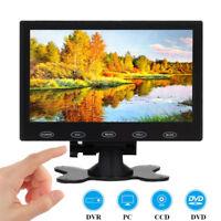 "7"" inch LCD CCTV Monitor Mini PC Screen AV/RCA/VGA/HDMI 1080P Video w/ Speaker"