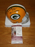 PACKERS Chuck Mercein signed mini helmet w/ SB II Champ JSA COA AUTO Autographed