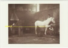 Malmesbury Farrier Bernard Tidmarsh, Real Photo for Expo'92 Seville, postcard
