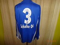 "FC Schalke 04 Adidas Langarm Junior Matchworn Trikot 09/10 ""GAZPROM"" + Nr.3 Gr.M"