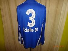 "FC Schalke 04 Adidas Langarm Junior Matchworn Trikot 08/09 ""GAZPROM"" + Nr.3 Gr.M"