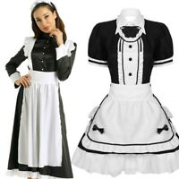 Women Adult Maid Costume Cosplay Outfit Halloween Costumes Fancy Dress Apron