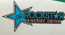 ROCKSTAR ENERGY DRINK BLUE STICKER DECAL CAR BIKE 220mmx115mm FREE POSTAGE!