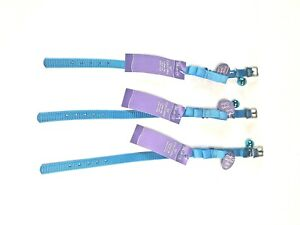 """Kitty Cat Collar 10"""" With Alert Bell Chime 3 Pack  By Whisker City"""