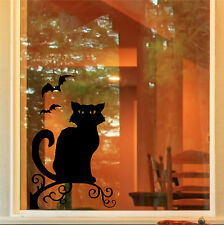 Halloween spooky cat & les chauves-souris windows porte autocollant decals trick or treat