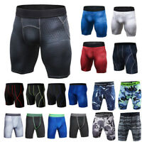 Men's Compression Shorts Base Layer Skins Under Tight Workout Pants Trousers